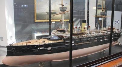 Модель броненосца Император Александр 2, ЦВММ