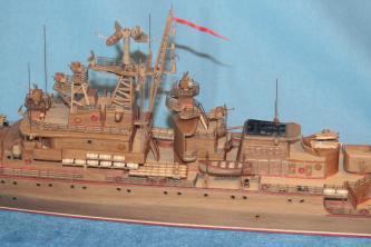 авторская модель-копия ручной работы корабля Беззаветный 1