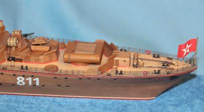 готовая авторская модель  ручной работы корабля Беззаветный 1
