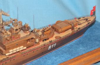 готовая авторская модель-копия корабля Беззаветный 2