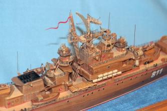 авторская модель  ручной работы корабля Беззаветный 3