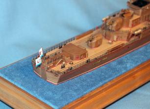 готовая авторская модель  корабля Беззаветный 5
