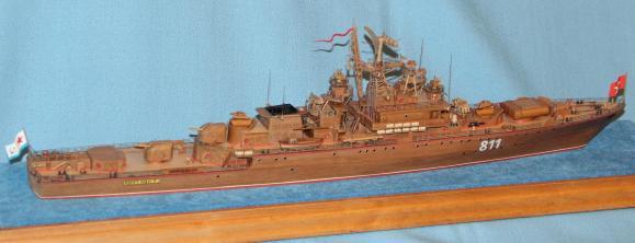 готовая модель-копия ручной работы корабля Беззаветный