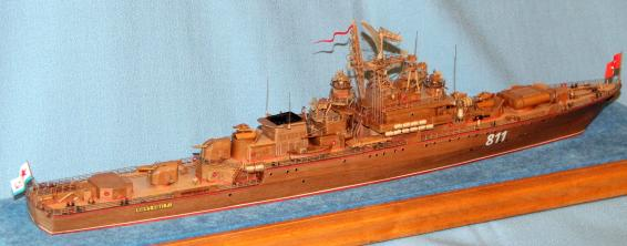 готовая авторская модель  ручной работы корабля Беззаветный