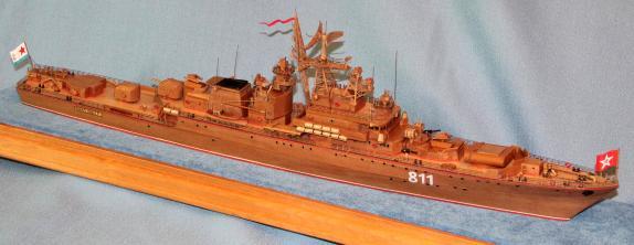 готовая авторская модель-копия  корабля Беззаветный