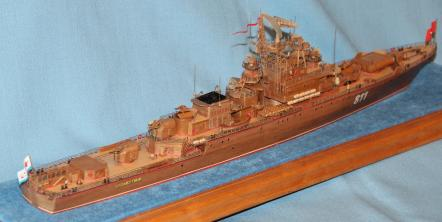 модель корабля Беззаветный