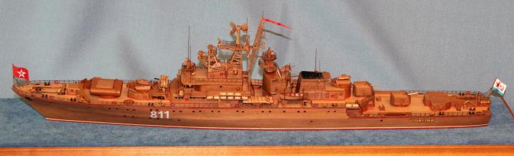 готовая  модель  ручной работы корабля Беззаветный