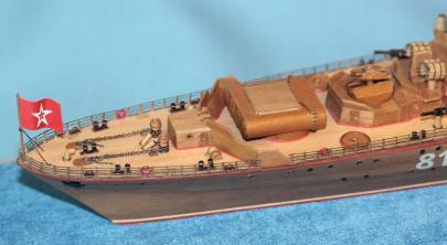 готовая авторская модель корабля Беззаветный 1