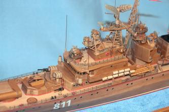 готовая авторская модель-копия ручной работы корабля Беззаветный 1