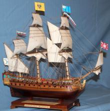 Готовая модель корабля Ингерманланд. Имя