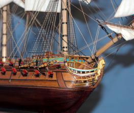 Готовая модель ручной работы корабля Ингерманланд.