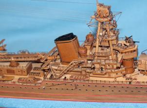 Модель крейсера Киров. Носовая надстройка