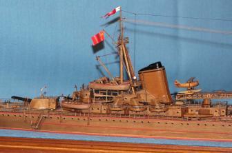 Модель крейсера Киров. Вторая надстройка и башня