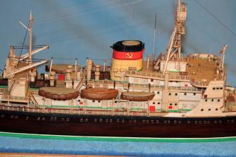 Готовая модель ледокола Красин.