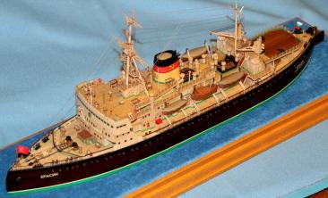 Готовая модель ледокола Красин