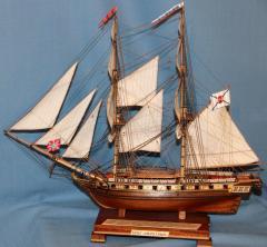Готовые модели кораблей из дерева. Бриг Меркурий 13.