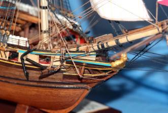 Коллекционные модели кораблей из дерева. Бриг Меркурий 16.