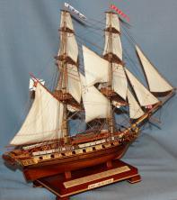 Коллекционная  авторская модель корабля бриг Меркурий 4.