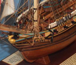 Авторская модель корабля ручной работы бриг Меркурий 5.