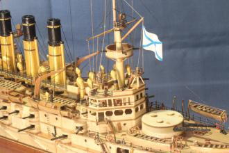 Модель корабля Ретвизан - фрагмент.