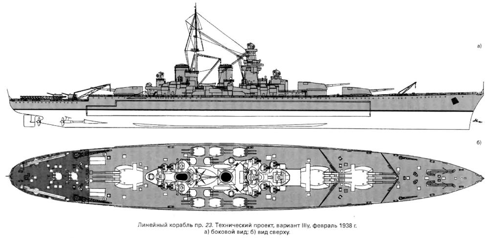 Модель корабля Советский Союз, чертёж 1938-1.