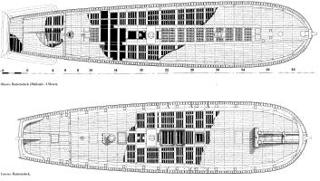 Чертёж готовой модели корабля Vasa 5