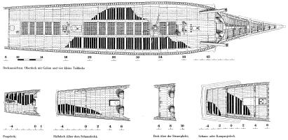 Чертёж модели корабля ручной работы Vasa