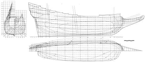 Чертёж модели-копии корабля Vasa 7