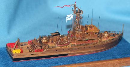 авторская модель тральщика 1265 яхонт 5