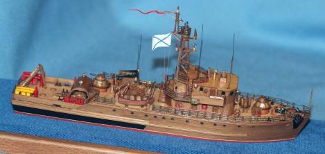 модель ручной работы тральщика 1265 яхонт 6