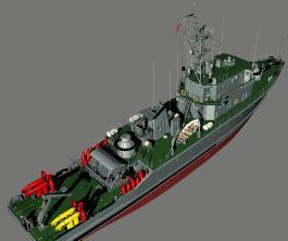 3d модель тральщика 1265 яхонт 7