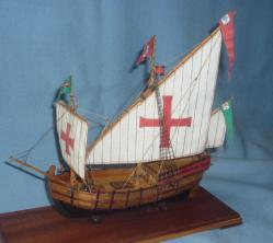 Готовая модель португальской каравеллы