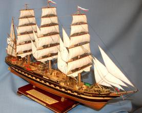 Готовая модель барка Крузенштерн. 3