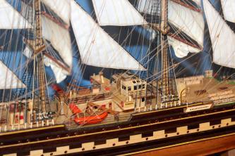 Готовая модель корабля Крузенштерн.  Купить.