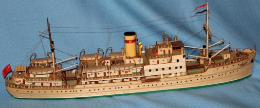 модель парохода Белоостров 7