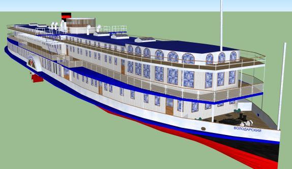 3d модель парохода Великая княжна Ольга Николаевна