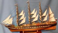 модель барка Крузенштерн.