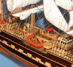 Модель барка Крузенштерн. Паруса