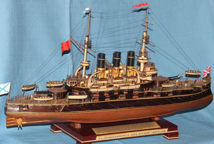Модель корабля Потёмкин. Вооружение.