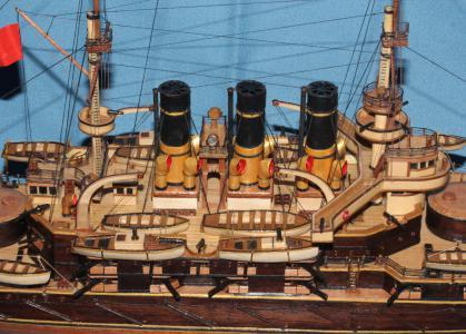Модель корабля Потёмкин. Вооружение. фрагмент.