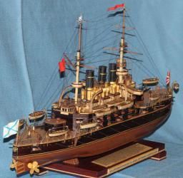 Модель корабля ЭБР Потёмкин. Кормовая оконечность
