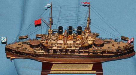 Модель военного корабля Потёмкин. Бронирование