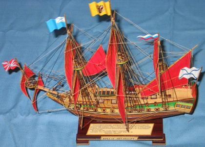 Модель парусника Фрегат 'Алые паруса'. Конструкция