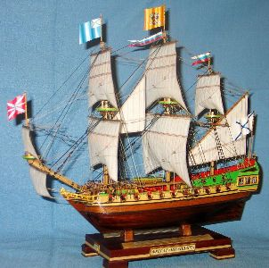 Модель корабля Фрегат Штандарт. Параметры.