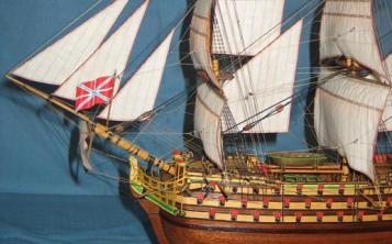 Модель корабля Трёх Иерархов. Паруса