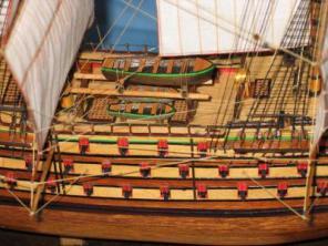 Модель военного корабля Трёх Иерархов. Корпус.
