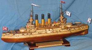 модель корабля - броненосец Ретвизан