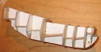 Каркас модели фрегата Штандарт