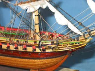 Нос модели фрегата Паллада