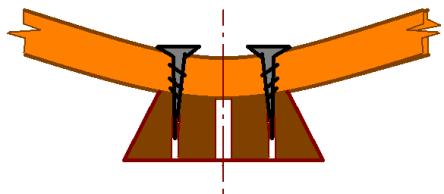 Крепление ножек на модели корабля